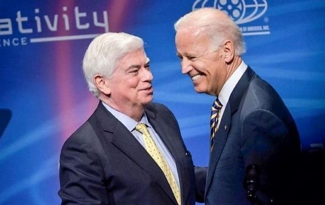 Former US Senator Chris Dodd and current President-elect Joe Biden together in 2014.