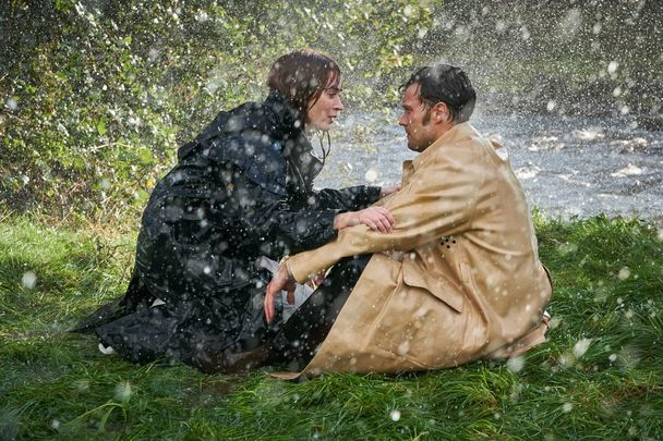 The movie poster for Wild Mountain Thyme, featuring Emily Blunt and Jamie Dornan..