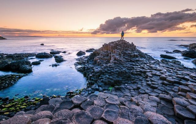 Giant\'s Causeway in Co Antrim, Northern Ireland.