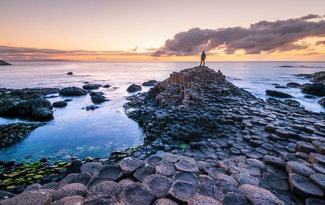 Giant\'s Causeway in Co Antrim, Northern Ireland.