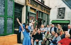 "Maria D'Arcy invites you to share in the James Joyce ""orgasm paragraph"" in support of Shakespeare and Company"