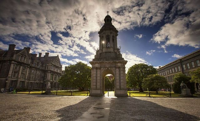 The front square at Trinity College Dublin.