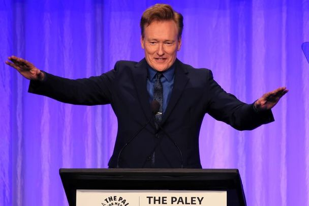 Irish American comedian Conan O\'Brien, pictured here in 2019.