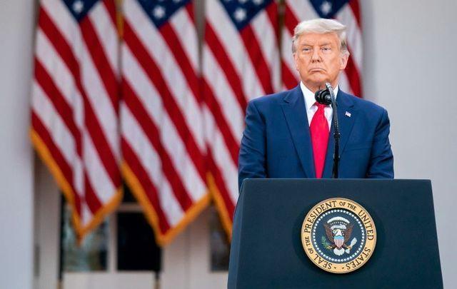 November 13, 2020: President Donald Trump speaking in the Rose Garden of the White House.