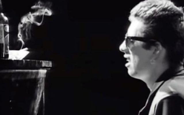 Shane MacGowan in the Fairytale of New York music video.