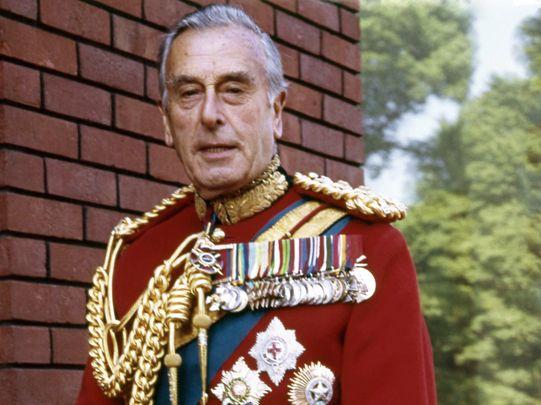 Lord Louis Mountbatten.