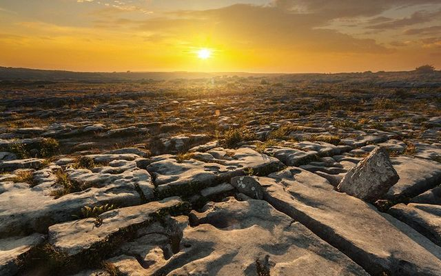 The Burren\'s karst landscapes are famous all over the world.