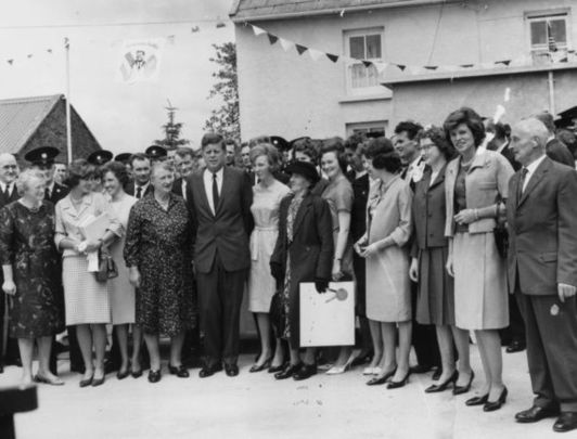 President John F. Kennedy visits his ancestral home in Wexford in 1963.