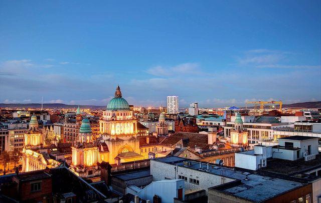 Belfast\'s skyline.