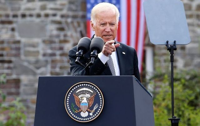 June 24, 2016: Then-Vice President Joe Biden speaking at Dublin Castle during his official visit to Ireland.
