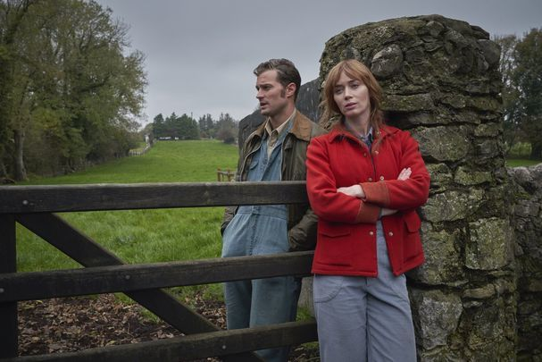 A still of Emily Blunt and Jamie Dornan in Wild Mountain Thyme.
