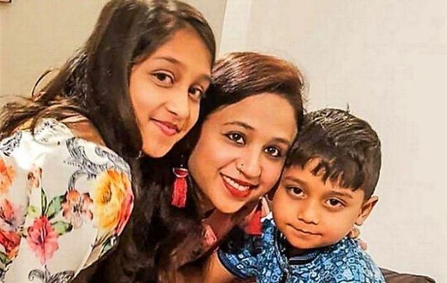 Seema Banu and her two children Asfira Riza, 11, and Faizan Syed, 6.