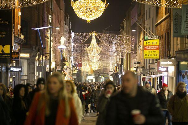 Grafton Street, Dublin, at Christmas