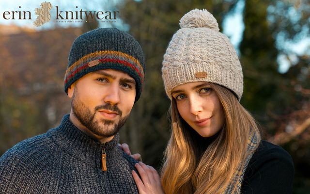 Erin Knitwear: Some of the wonderful hand-knit products and fleece-lined accessories from this Cork, family-run supplier.