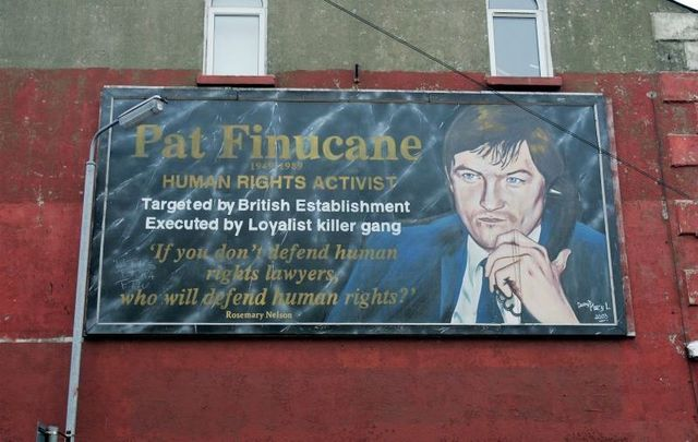 Human rights lawyer Pat Finucane was shot 14 times and killed in front of his wife and young children in his Belfast home in February 1989.