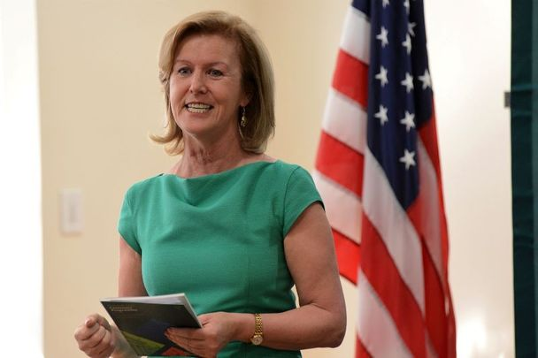 January 7, 2016: Ireland\'s Ambassador to the United States Anne Anderson at the launch of the 2016 Centenary Programme in the United States of America in New York at the Consulate of Ireland.