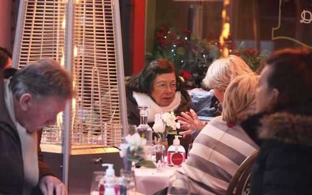Customers dining in a Dublin restaurant after COVID-restrictions were lifted on Friday.