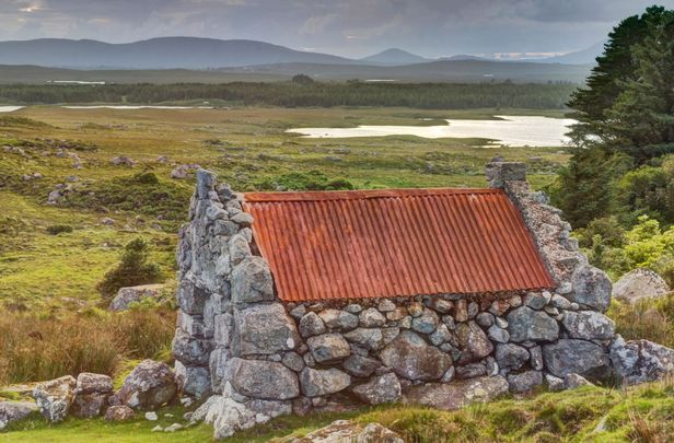A rustic cottage in Spiddal, County Galway.