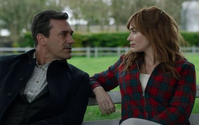 "Jon Hamm and Emily Blunt in ""Wild Mountain Thyme.\"""