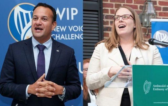 Tanaiste Leo Varadkar and Biden campaign manager Jen O\'Malley Dillon.