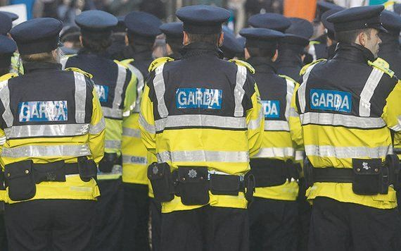Gardaí gathered at Tramore Garda Station in Waterford to celebrate the promotion of an officer.
