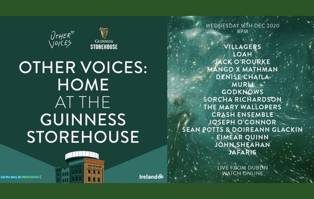 Other Voices: Home at the Guinness Storehouse streams live this Wednesday, December 16.