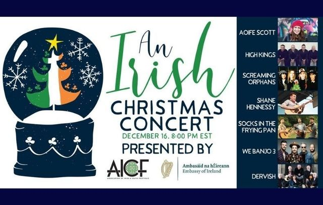 Seven Irish acts are set to perform on December 16 during the AICF\'s Irish Christmas Concert.