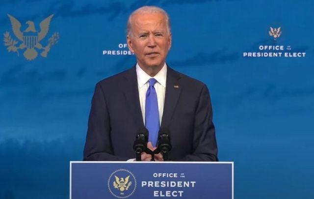 December 14, 2020: President-elect Joe Biden delivering remarks after officially winning 306 electoral votes.