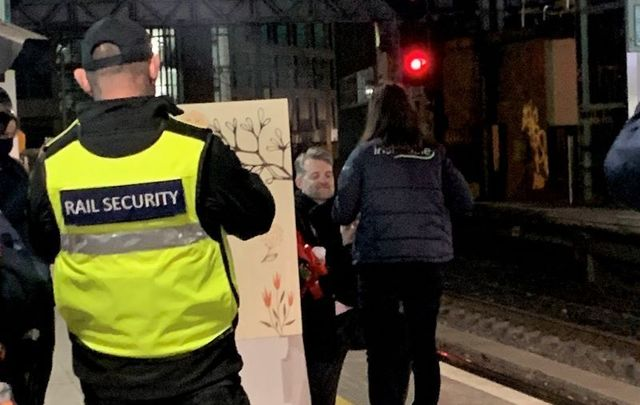 Train driver Paula Carbó Zea was treated to a surprise proposal by her boyfriend Conor O\'Sullivan at Pearse Station in Dublin.