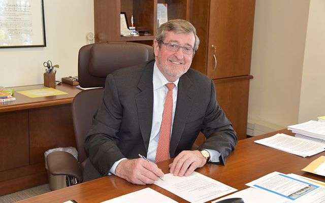 Michael J. Dowling, the Irish CEO of Norhtwell Health, New York State\'s largest private employer.