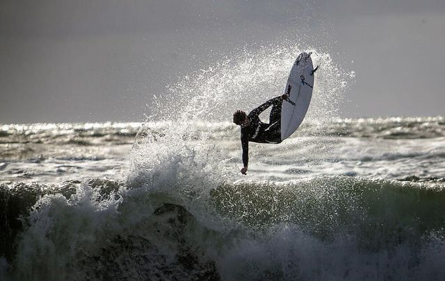 Ireland\'s Wild Atlantic Way features stunning spots for surfing, like here in County Donegal.