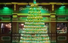 World falls in love with NY Irish pub's whiskey bottle Christmas tree