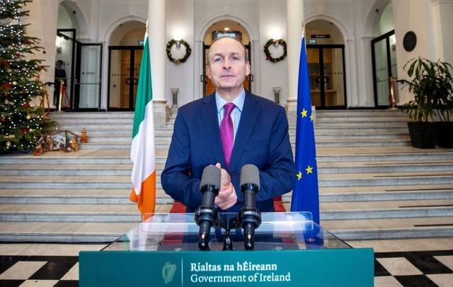 December 22, 2020: Taoiseach Micheal Martin announces that the Republic of Ireland will re-enter Level 5 restrictions from December 24.