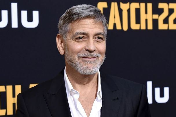 """George Clooney at the premiere of Hulu\'s \""""Catch-22\"""" on May 07, 2019, in Hollywood, California."""