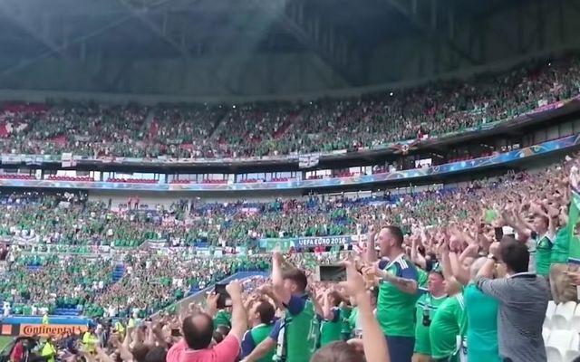 Northern Ireland fans singing Sweet Caroline at Euro 2016.