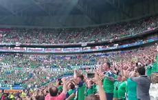 Irish fans join in global Sweet Caroline singalong