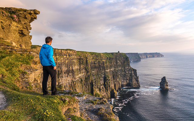 The Cliffs of Moher, in County Clare.