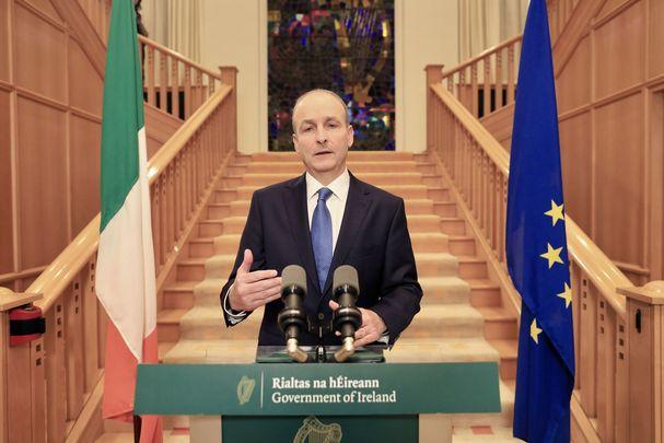 Taoiseach Micheál Martin addressing the nation as Ireland re-enters lockdown.