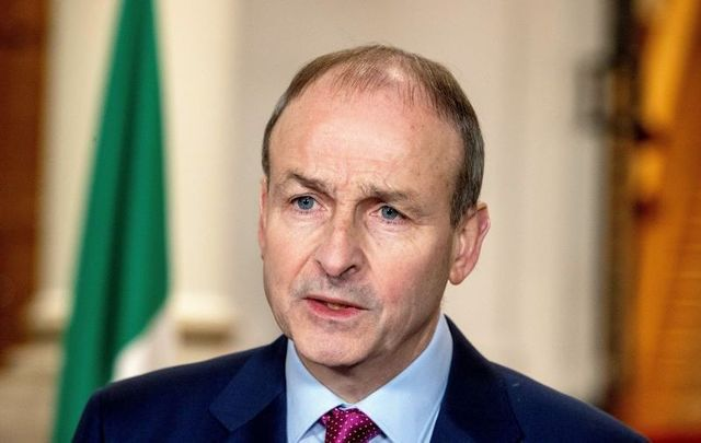 Taoiseach Micheál Martin announces that the country will be moving to full-scale Level 5 restrictions.