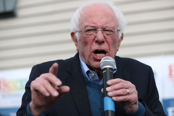 Presidential hopeful Bernie Sander, Independent, representing the Democratic Socialist Party.