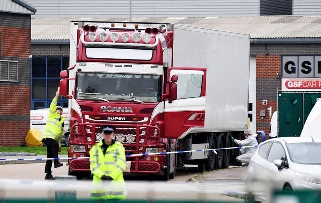 On October 23, 2019, 39 bodies were discovered in the back of a lorry that had arrived in the UK. Some of the suspects are from Northern Ireland.