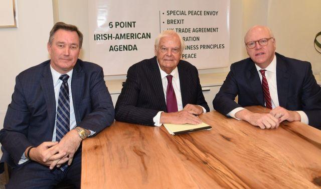 Irish American Presidential Forum 2020 co-chairs (l-r) Marty Glennon, John Dearie, and Joe Crowley.