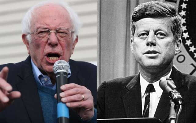 """Despite once being \""""nauseated\"""" by John F. Kennedy, Bernie Sanders has invoked him in a recent campaign ad."""