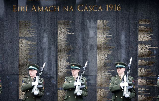 The War of Independence Memorial Wall at Dublin\'s Glasnevin Cemetery was damaged earlier this week