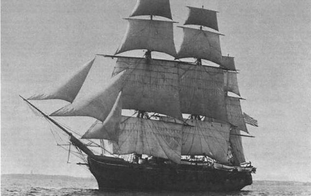 The USS Jamestown, taken between 1844 and 1913.