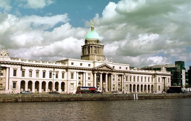 Ireland\'s Custom House in Dublin today.