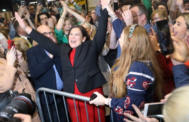 Sinn Féin President Mary Lou McDonald celebrates her win in the General Election 2020.