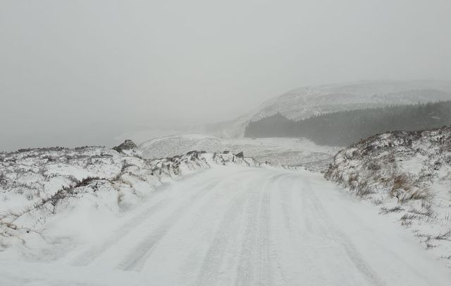 Snow in the Sally Gap, Co Wicklow on February 10 in the wake of Storm Ciara.