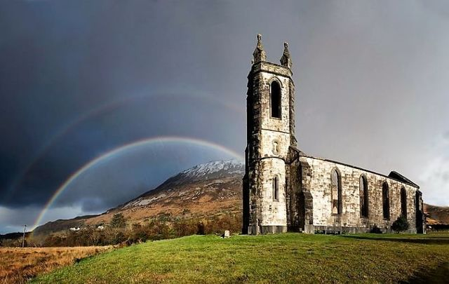 The Old Church of Dunlewey in Co Donegal