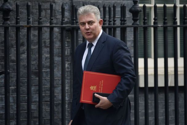 Brandon Lewis was named Secretary of State for Northern Ireland during Boris Johnson\'s cabinet reshuffle on Thursday.